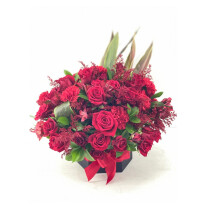 24 Roses & 12 carnations