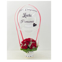 18 Roses with a balloon